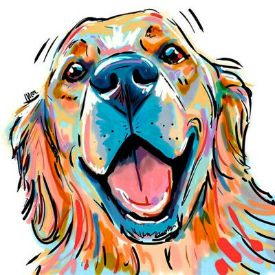 10X(5D Diamond Painting Beauty Colored Dog Diamond Embroidery Full Portrait O4G0