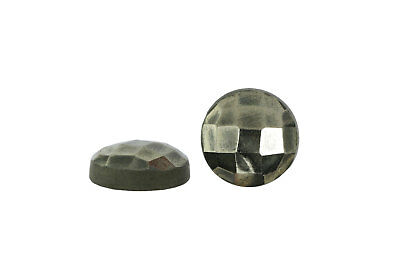 Semiprecious Natural Pyrite Round Cabochon Faceted Gemstone Wholesale Custom Lot