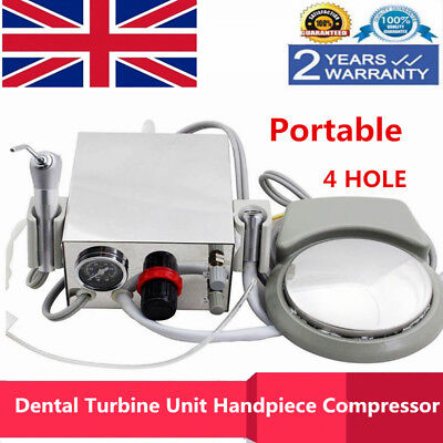 Portable Dental Turbine Unit Handpiece Compressor 4-Hole 3 Way Syringe