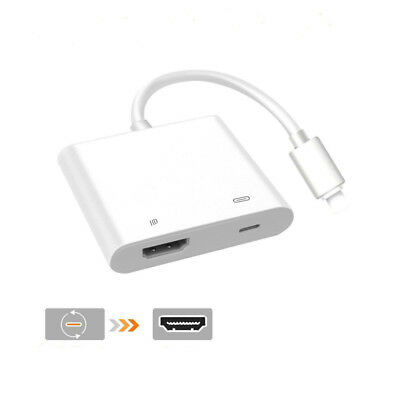 Lightning to Digital AV TV HDMI Cable Adapter For Ipad Apple Iphone 7 8 6S Plus