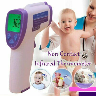 LCD Body Skin Digital Non-contact IR Thermometer Infrared For Baby Kids Adult BP