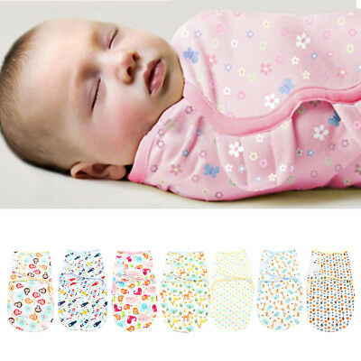100% Cotton Soft Baby Infant Swaddle Wrap Blanket Sleeping Bag for 0-6 Month UK