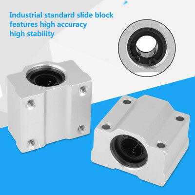 4Pcs SCS12UU 12mm Aluminum Linear Motion Ball Bearing Slide Pillow Block ams