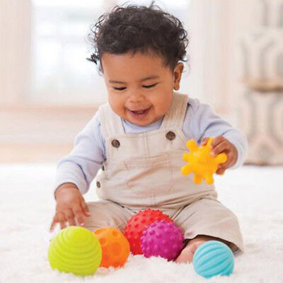 4/6pcs Baby Kids Soft Massage Sensory Development Learning Hand Ball Toy 7cm