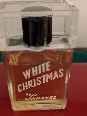 Vintage  WHITE Christmas Saravel 1940s splash 1 Oz