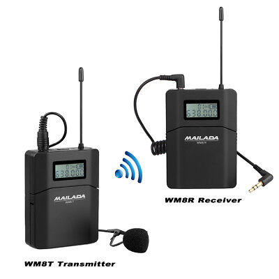 Wireless Multi-Channel Microphone System Canon Nikon Sony Recorder with Receiver