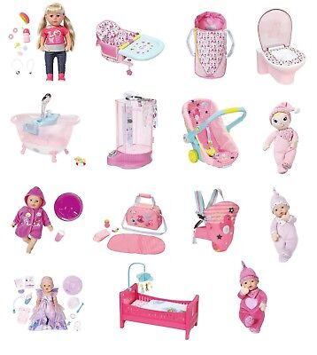 Zapf Creation Baby Born Doll Deluxe Toy Playsets Collection Range Babyborn