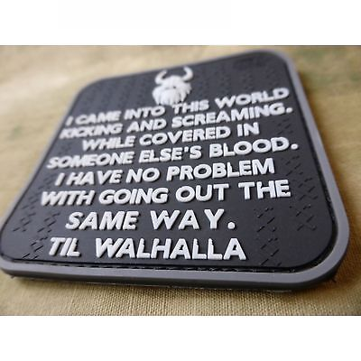 Vikings Way of Life Patch, swat / JTG 3D Rubber Patch Valhalla