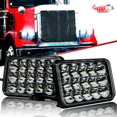 "2pcs 4X6"" LED Headlights For Western Star 4900 Semi Truck Peterbilte 357 378 379"