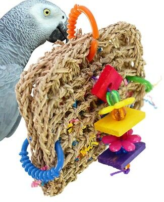 00740 Mini Foraging Pouch BIRD TOY parrot toys cages parakeet conure cockatiel