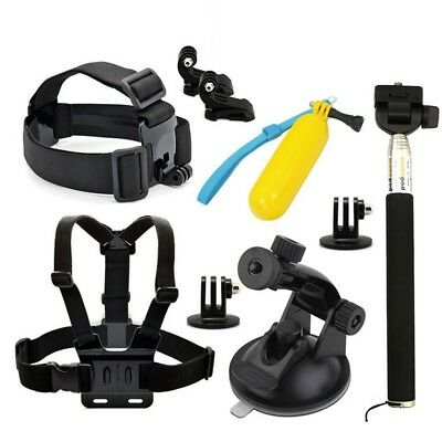 9 en1 Accesorios Set Kit Telescopic Monopod+Chest Strap For GoPro HD Hero 3 P5P6
