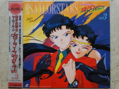SAILOR MOON STARS Vol 3 LASERDISC HAND-SIGNED NAOKO TAKEUCHI LD ANIME VINYL