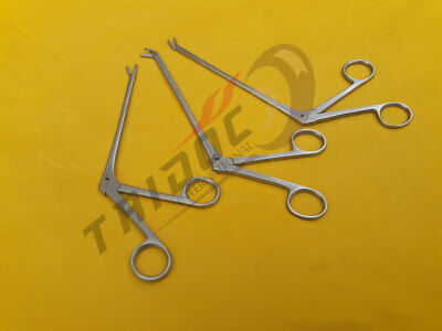 """3Pcs Cushing Pituitary Rongeurs 8"""" 4x10mm Cup ,Up.Str,Down ENT Surgical A+ Grade"""