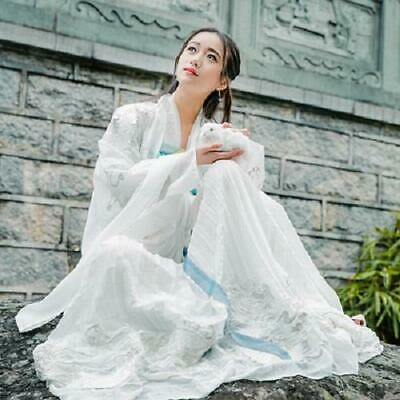 8a5128f29 Women Chinese Hanfu Costume Skirts Shirt Casual Robe Embroidered Ancient  Vintage