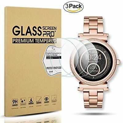 3 Pc Smartwatch Tempered Glass Screen Protector for Michael Kors Access Grayson