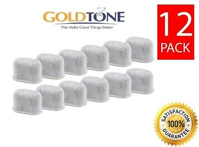 (12) GoldTone Charcoal Water Filters Fit ALL Keurig Classic 1.0 2.0 Coffee Maker