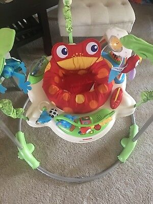 Fisher-Price Rainforest Jumperoo Bouncer baby Toy Activity seat music lights