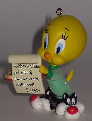 Hallmark Keepsake Ornament Chwistmas List - Looney Tunes' Tweety Bird