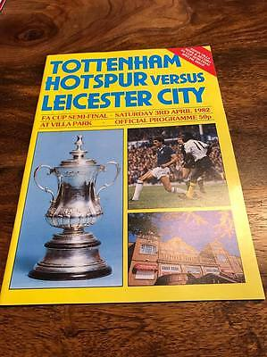 Spurs V Leicester City 1982 Fa Cup Semi Final Programme Mint Look Free Postage