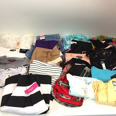 Lot 20 Pieces Womens Wholesale Reseller Clothing Lot NWT SMALL MED LARGE