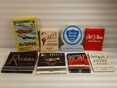 Vintage mixed lot of (8) Match books Riviera Hotel Cal Neva Reno Al Hirt Ozzies