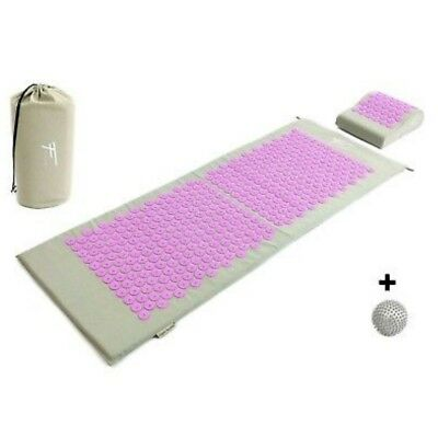Kit d'acupression XL acupuncture massage relaxation sport 130x50x2,5cm gris/purp
