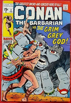 CONAN THE BARBARIAN 3 MARVEL 1971 Low distribution Barry Windsor-Smith Art