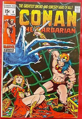 CONAN THE BARBARIAN 4 MARVEL 1971 Barry Windsor-Smith Art