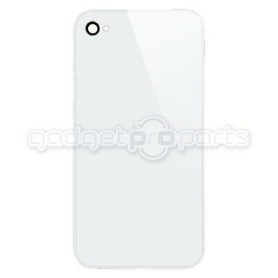 iPhone 4S/4 CDMA Back Glass NO LOGO (White) - FREE SAME DAY SHIP MON-SAT