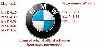Newest licensed  BMW diagnostic and programing software ista d ista p rheingold