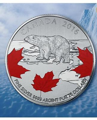 2016 Canada $25 for $25 True North 1/4oz Coloured Silver coin 20for20 series 0.5