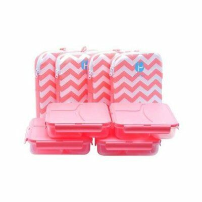 Accessories Pre-L1000348-4  Chevron Lunch Containers In A Pack Of 4