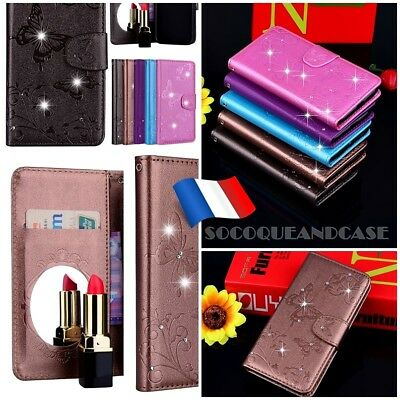 Etui coque housse Fashion PU Leather Mirror case cover SONY XPERIA L1 XA1 Ultra