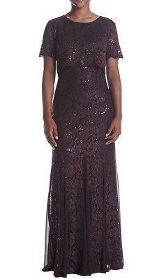 Women's Formal Dresses Maxi Plus Size 18W Purple {fits 18-20} Mother of Bride