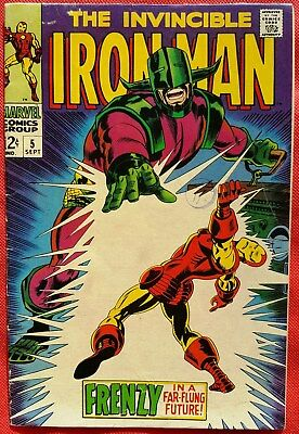 IRONMAN 5 MARVEL SILVER AGE 1968 Frenzy In A Far-Flung Future