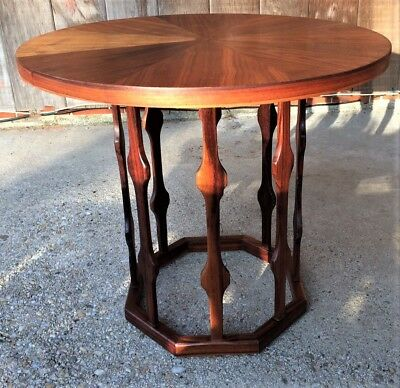 Rare Mid Century Foster McDavid Octagon Bottom End Table/Night Stand