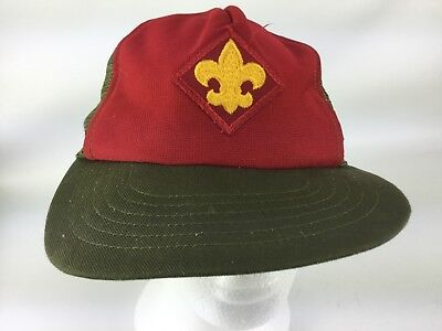 Vintage Boy Scouts Webelos Snapback Hat USA Made Free Shipping