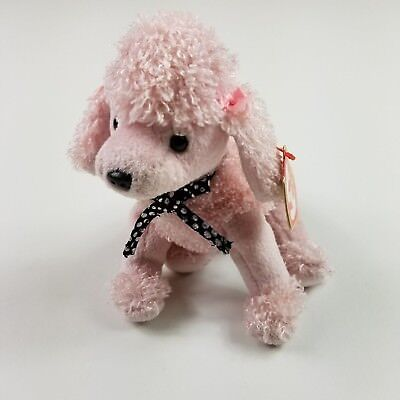 Ty Beanie Baby Brigitte the Pink Poodle/Dog, 2000, Retired Tag Error