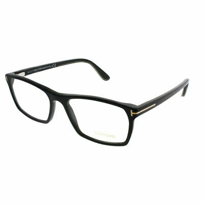 9796f07aa50 TOM FORD FT 5295 001 Shiny Black Plastic Rectangle Eyeglasses 56mm ...