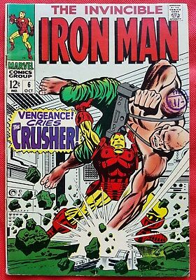 IRONMAN 6 MARVEL SILVER AGE 1968 Vengeance Cries the Crusher