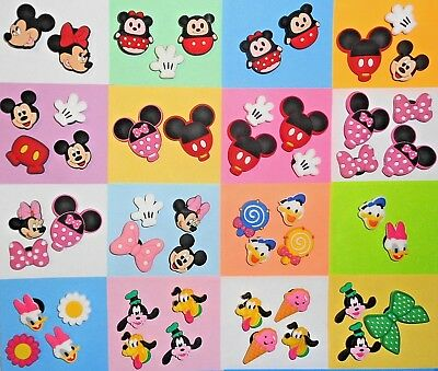 Mickey & Friends Shoe Charms Kids Sets put in your Crocs, Wristbands