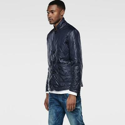 G-Star Raw Men Padded Diamond-Quilted Cropped Slim Jacket Blazer Water-Repellent