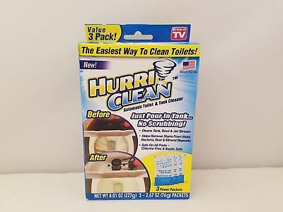 HurriClean Automatic Toilet & Tank Cleaner Value 3 Pack | HCPKG40217-UNI | ASOTV