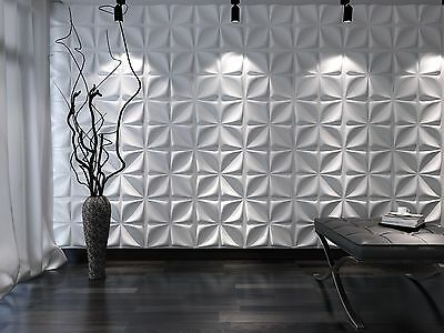 Eco-friendly ! Paintable, 3m2 DIY 3D Wall Panels, glue on wall tiles, Aryl