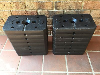 5kg each x 14 gym weights in good condition AS NEW as shown in pictures
