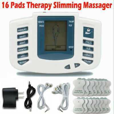 Skin Care Skin Care Tool Hard-Working Electrical Stimulator Full Body Relax Muscle Therapy Massager Massage Pulse Tens Acupuncture Health Care Slimming Machine 16pads