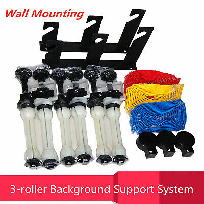 3 Roller Wall Mount Backdrop Manual Photography Background Drive System