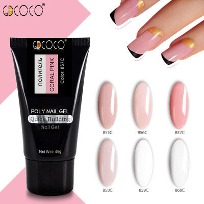 GDCOCO Poly Nail Art Jelly Gel French Tips Natural Camouflage Color UV Gel