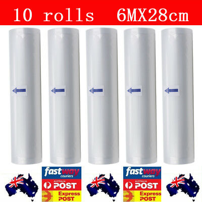 Vacuum Food Sealer Rolls Saver Bags Seal Storage Commercial Heat Grade 6MX28cm