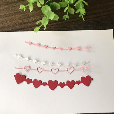 3X Love Banner Design Metal Cutting Dies For DIY Scrapbooking Album Paper Card X